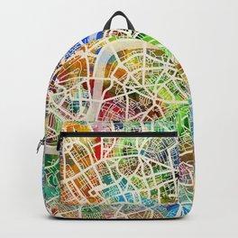 London England Street Map Backpack
