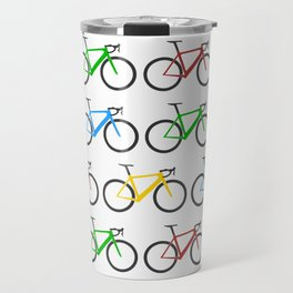 Road Bike Pattern Travel Mug