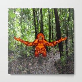 Orangutan Knot Metal Print