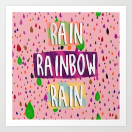 Raining bow Art Print