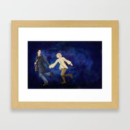 Off Into Time and Space Framed Art Print