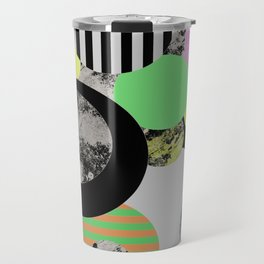 Cluttered Circles - Abstract, Geometric, Pop Art Style Travel Mug