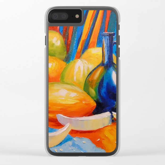 Still life with melon Clear iPhone Case
