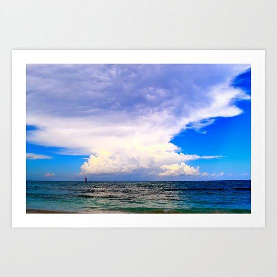 Warm Weather Skies Art Print