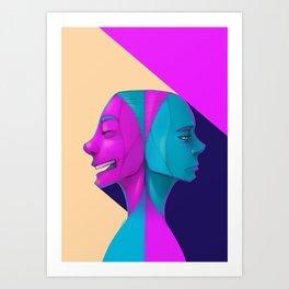 Duel of Face Art Print