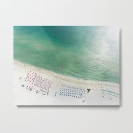 Helicopter View of Miami Beach Metal Print