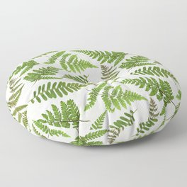 Dried And Pressed Fern Leaves Midsummer Forest Meadow  Floor Pillow