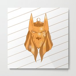 Anubis golden Metal Print