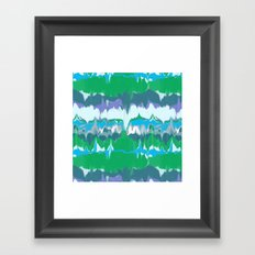 Marbled in jewel Framed Art Print