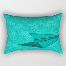Paper Airplane 112 Rectangular Pillow