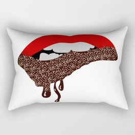 Chocolate Lover Nutty Lips Rectangular Pillow