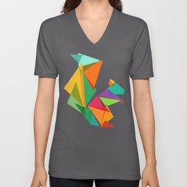 Fractal geometric Squirrel Unisex V-Ausschnitt