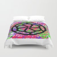 graffiti Duvet Covers featuring Graffiti by Rosemetamorphosis