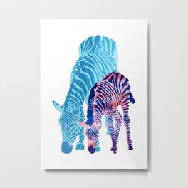 Striped Love (white) Metal Print