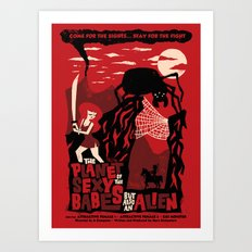 B-Movie Art Print