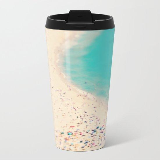 beach love III - Nazare Metal Travel Mug