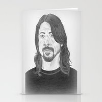 dave grohl Stationery Cards featuring Dave Grohl , Portrait Art by N_T_STEELART