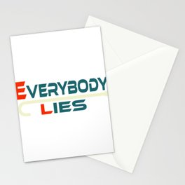 """A Nice Simple Lies Tee For Liars Saying """"Everybody Lies"""" T-shirt Design Dishonesty Truth Forgery Stationery Cards"""