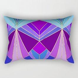 Peacock Art Deco - Large Scale Rectangular Pillow