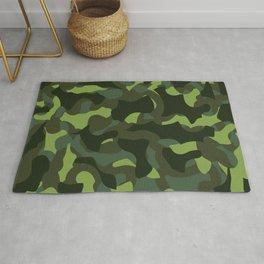 Classic Green Girly Camo Print Rug