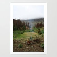 Smoke in the Woods Art Print