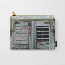 Closed Window Shutters in South Europe Carry-All Pouch