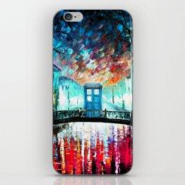 Tardis With Beautiful Starry Night iPhone Skin