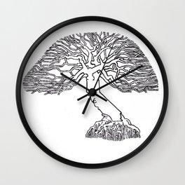 California Oak Wall Clock