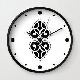 Celtic Heart Design - Black and White Wall Clock