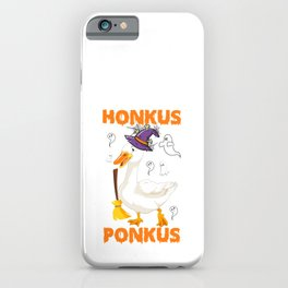 Funny Halloween Witches Duck Cute Honkus Ponkus Gifts iPhone Case
