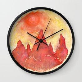 Burning Sun Wall Clock