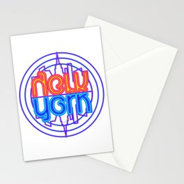 """""""Neon New York"""" Lakeview Mirror Image Stationery Cards"""