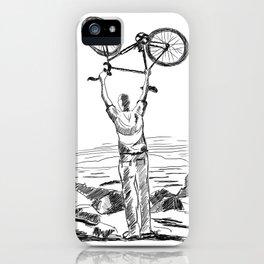 Bike Contemplation - light background iPhone Case