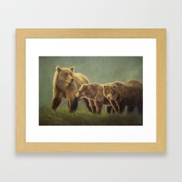 MAMA GRIZZ FIERCE AND FREE Framed Art Print