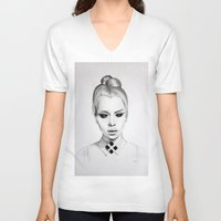 mod V-neck T-shirts featuring mod  by Anna Gibson