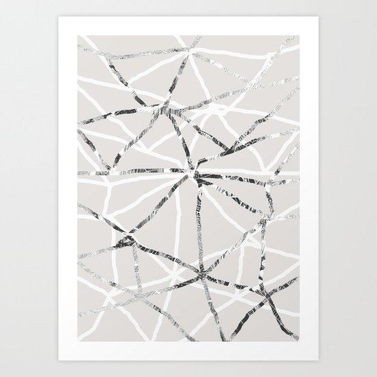 Triangular grid Art Print