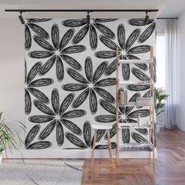 Ballpoint Flower Pattern Wall Mural