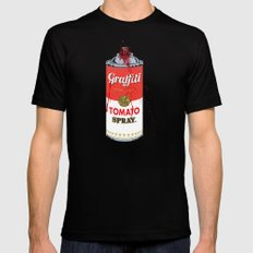 Graffiti Tomato Spray Can 2X-LARGE Mens Fitted Tee Black