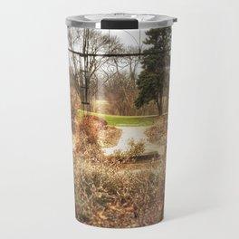 Choose a Path - Centennial Garden, Middle Park - Bettendorf, Iowa Travel Mug