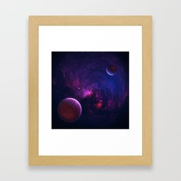 Abstract Fractal Design 11 - Space and Dark Matter Absorption Framed Art Print