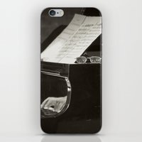 music notes iPhone & iPod Skins featuring Grand Piano and Music Notes by cinema4design
