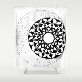 The Moon and Stars Shower Curtain