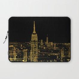 Abstract Gold City  Skyline Design Laptop Sleeve