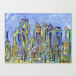 Philadelphia Skyline Painting Canvas Print
