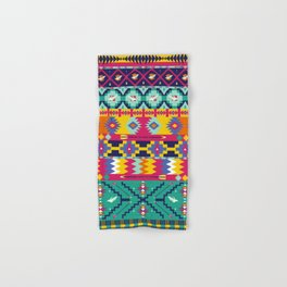 Seamless colorful aztec pattern with birds Hand & Bath Towel