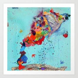 Flight by Letter by Nadia J Art Art Print