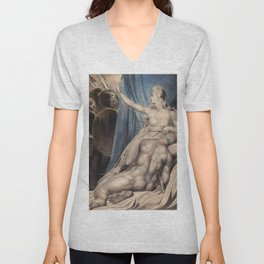 "William Blake ""Delilah and Samson"" Unisex V-Neck"