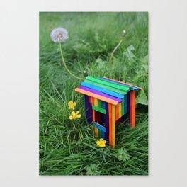 Backyard Fairy House Canvas Print