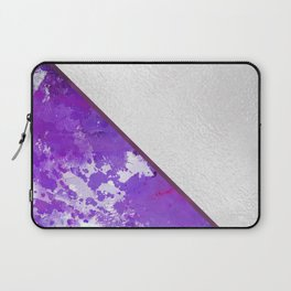 Abstract violet lilac white watercolor paint splatters Laptop Sleeve