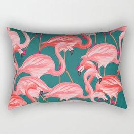 flamingo tropical Rectangular Pillow